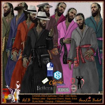 ALB CASABLANCA bathrobe MEN - DEMO MESH - AnaLee Balut  - ALB DREAM FASHION