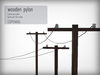 [FLOWS] wooden electric pylon / power lines (boxed)