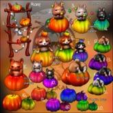 4.Yokai - Pumpkin forest - Bunny in pumpkin (black) (Unpacked)