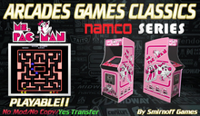 = Ms Pac Man Pink = Namco Arcades Games [BOX]