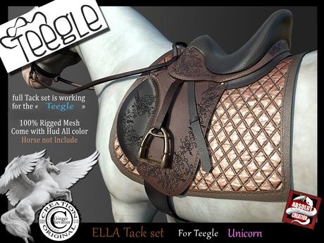 (*.*) ELLA tack set Teegle Unicorn