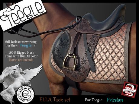 (*.*) ELLA tack set Teegle Friesian - wear to unpack