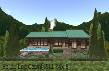 Bailey Log Cabin(65LI, 24x15)