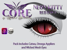 CORE NEON KITTY RED DAWN EYES
