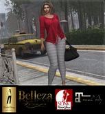 HautePinay [HERRINGBONE RED] Boho Sweater & Skinny Pants