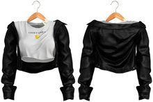 Blueberry - Candy - Leather Jackets & Tops - Black