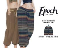 .EPOCH. cammie harem pants. boho. dark blue.