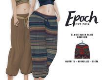 .EPOCH. camie harem pants. boho. red.