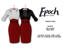 .EPOCH. frenchie dress. red.