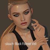 -slouch- Black Fishnet Veil (add)