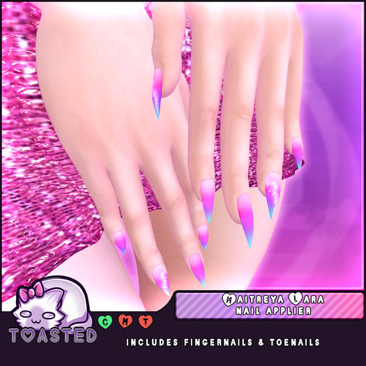 TOASTED // Maitreya Tri-Color Pastel Nail applier // almost free freebie