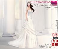 %50SUMMERSALE Off Shoulder Strap Ball Gown Wedding Dress | Maitreya Slink Belleza Tonic Ocacin Classic Avatars