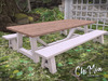 ChiMia:: Light Plank Dining Table & Benches (PG)