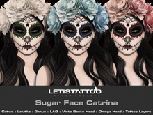 Letis Tattoo :: Sugar Face :: HW12005 :: WearMeToUnpack
