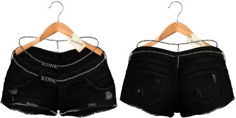 Blueberry - Iconic - Shorts & Chain Belt - Black