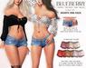 Blueberry iconic shorts mini pack