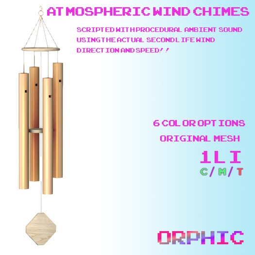 Orphic Atmospheric Wind Chimes