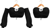 Blueberry - Iconic - Off Shoulder Tops - Black