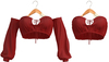 Blueberry - Iconic - Off Shoulder Tops - Red