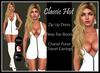 [DB] Classic Hot Zip Front Dress Outfit White - Maitreya Slink Belleza
