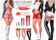 Blueberry - Candy - 3 Length Boots - Fat Pack