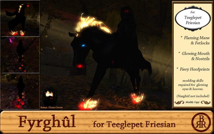BRR Fyrghul for Teeglepet Friesian 1.1