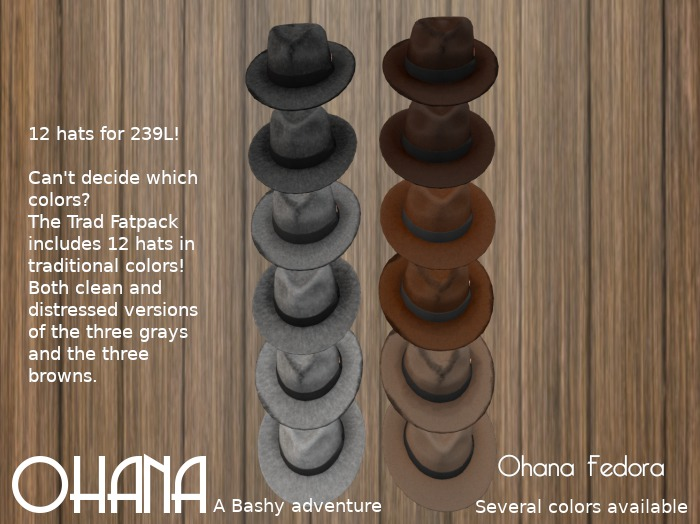 Ohana Fedora Trad Fat Pack (WEAR TO UNPACK)