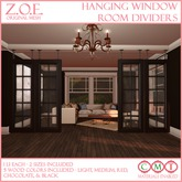 Z.O.E. Hanging Window Room Dividers
