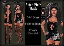 [DB] Asian Flair Mini Dress Outfit - Black - Maitreya, Belleza, Slink