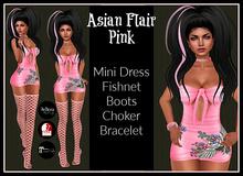 [DB] Asian Flair Mini Dress Outfit - Pink - Maitreya, Belleza, Slink