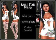 [DB] Asian Flair Mini Dress Outfit - White - Maitreya, Belleza, Slink