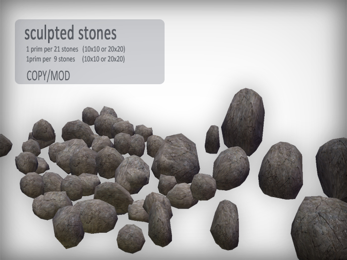 [FLOWS] sculpted stones rocks (boxed)