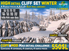Mesh Winter CLIFF SET 2019 - High detail, cliff for building snow rock cliffs or privacy wall in high detail