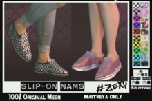 #Zexy - Slip-On Nams Print'n'Check Fatpack ADD