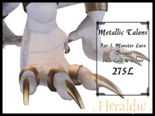. heraldic . imonster dragon metallic talons