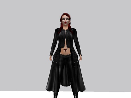 Long Punk Goth Leather Coat in 12 colours