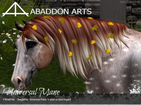 ABADDON ARTS - Universal Mane [Teeglepet American Paint]