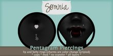 .: Somnia :. Pentagram Piercing Set {BOXED}