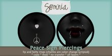 .: Somnia :. Peace Sign Piercing Set {BOXED}