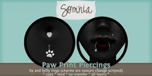 .: Somnia :. Paw Print Piercing Set {BOXED}