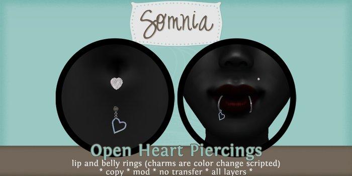 .: Somnia :. Open Heart Piercing Set