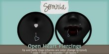 .: Somnia :. Open Heart Piercing Set