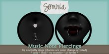 .: Somnia :. Music Note Piercing Set