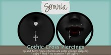 .: Somnia :. Gothic Cross Piercing Set