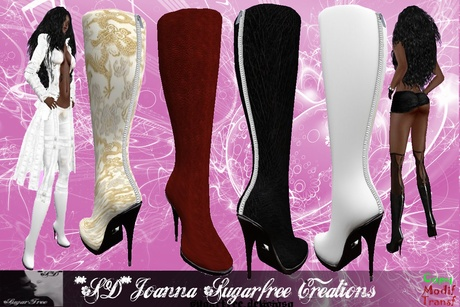 **SD**-JOANNA Romantic  formal boots Stiletto (Full Colors)