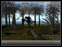 TMG - CREEPY FOREST. Landscaped Woodland, perfect for Halloween, with 30 animations
