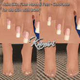 + Kamiri + Nails Skin Fixer (you can modify color) for bake on mesh