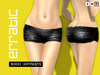 erratic / nikki - sequin hotpants / black [ hot pants, hot-pants, booty shorts, boy shorts, shorts ]