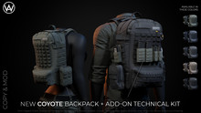 [WAZ] Coyote Backpack (Fatpack Bundle) BOXED (Add/Rezz Me)
