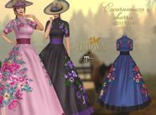 :: ANTAYA :: Mesh navy gown <Escaramuza charra>